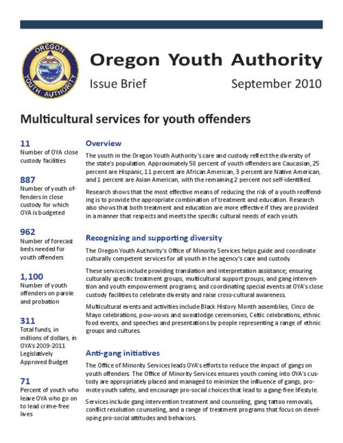 "This archived document is maintained by the Oregon State Library as part of the Oregon Documents Depository Program.  It is for informational purposes and may not be suitable for legal purposes., Title from PDF title page (viewed on Mar.21, 2011), ""September 2010."", Mode of access: Internet from the Oregon Government Publications Collection."