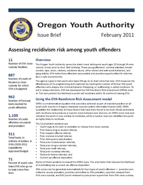"This archived document is maintained by the Oregon State Library as part of the Oregon Documents Depository Program.  It is for informational purposes and may not be suitable for legal purposes., Title from PDF title page (viewed on Mar.21, 2011), ""February 2011."", Mode of access: Internet from the Oregon Government Publications Collection."