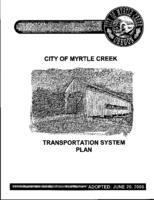 City of Myrtle Creek transportation system plan