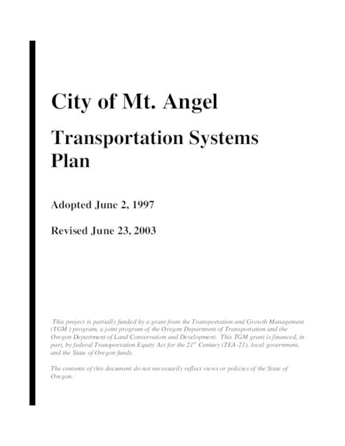 "Title from PDF cover (viewed on January 11, 2019)., ""Adopted June 2, 1997."", This archived document is maintained by the State Library of Oregon as part of the Oregon Documents Depository Program. It is for informational purposes and may not be suitable for legal purposes., Includes bibliographical references., Funded by a grant from the Transportation and Growth Management Program., Mode of access: Internet from the Oregon Government Publications Collection., Text in English."