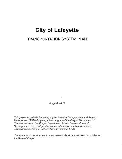 Title from PDF cover (viewed on January 11, 2019)., This archived document is maintained by the State Library of Oregon as part of the Oregon Documents Depository Program. It is for informational purposes and may not be suitable for legal purposes., Funded by a grant from the Transportation and Growth Management Program., Mode of access: Internet from the Oregon Government Publications Collection., Text in English.