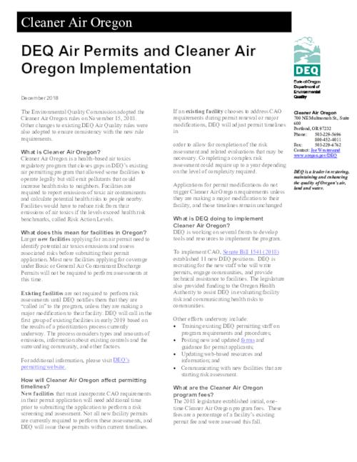 Title from PDF caption (viewed on January 15, 2019)., This archived document is maintained by the State Library of Oregon as part of the Oregon Documents Depository Program. It is for informational purposes and may not be suitable for legal purposes., Mode of access: Internet from the Oregon Government Publications Collection., Text in English.