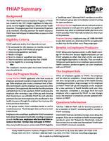 FHIAP summary, Family Health Insurance Assistance Program summary