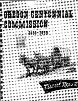 Final fiscal officer's report to the state of Oregon Centennial Commission,...