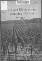 Cost and efficiency in producing hops in Oregon