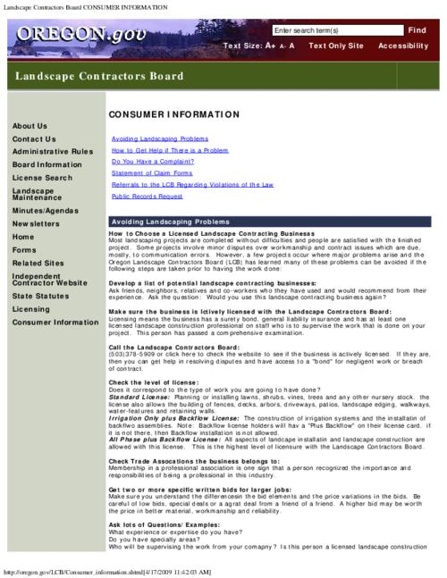 "This archived document is maintained by the Oregon State Library as part of the Oregon Documents Depository Program.  It is for informational purposes and may not be suitable for legal purposes., Title from PDF caption (viewed on Feb. 23, 2012), Converted from HTML, ""Page updated: January 28, 2009""--P. [3], Mode of access: Internet from the Oregon Government Publications Collection."