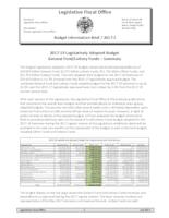 ... legislatively adopted budget general fund and lottery funds - summary, ......