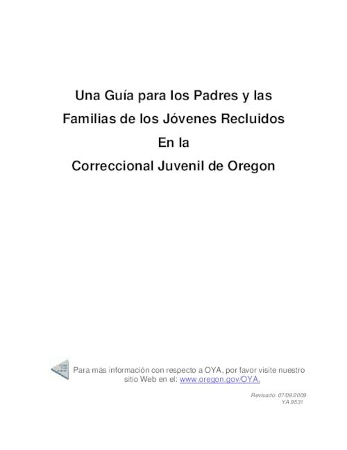 "This archived document is maintained by the Oregon State Library as part of the Oregon Documents Depository Program.  It is for informational purposes and may not be suitable for legal purposes., Title from PDF title page (viewed on Sept. 21, 2009), ""Rivisado: 07/08/2009."", ""YA 9531."", Mode of access: Internet from the Oregon Government Publications Collection., Text in Spanish"