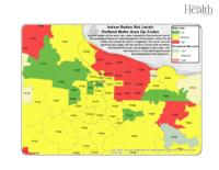 Indoor radon risk levels. Portland metro area zip codes, Portland metro area...