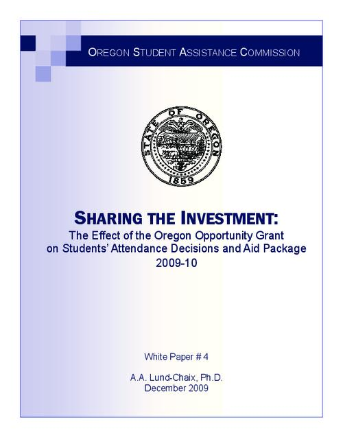 "This archived document is maintained by the Oregon State Library as part of the Oregon Documents Depository Program.  It is for informational purposes and may not be suitable for legal purposes., Title from PDF title page (viewed on Feb. 22, 2010), ""December 2009."", Includes bibliographical references (p. 25-26), Mode of access: Internet from the Oregon Government Publications Collection."