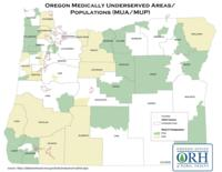 Oregon medically underserved areas & populations (MUA/MUP): designations...