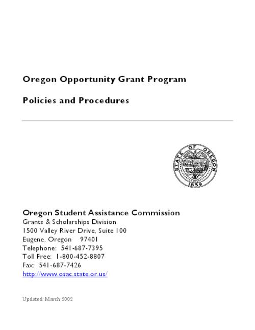 This archived document is maintained by the Oregon State Library as part of the Oregon Documents Depository Program.  It is for informational purposes and may not be suitable for legal purposes., Title from PDF cover (viewed on March 30, 2016)., Mode of access: Internet from the Oregon Government Publications Collection., Text in English.