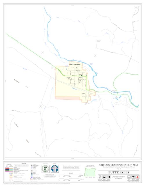 Oregon Transportation Map Showing Functional Classification Of - Oregon state map with cities