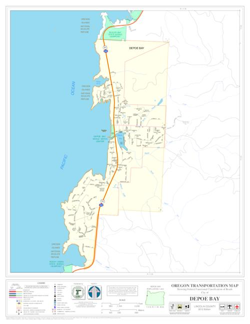 Oregon transportation map showing functional classification of roads oregon transportation map showing functional classification of roads city of name of city county depoe bay gumiabroncs Image collections