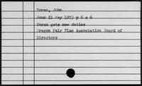 Toran, John - Townsend, Alexander Mathias