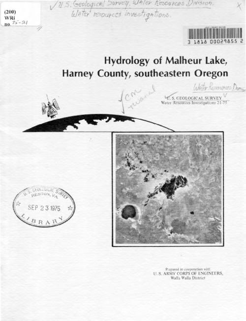 Title from title screen (viewed Feb. 2, 2016)., Also available online in PDF format from the U.S. Geological Survey Warehouse (http://pubs.er.usgs.gov/)., Prepared in cooperation with U.S. Army Corps of Engineers, Walla Walla District., This archived document is maintained by the State Library of Oregon as part of the Oregon Documents Depository Program. It is for informational purposes and may not be suitable for legal purposes., Includes bibliographical references (pages 40).