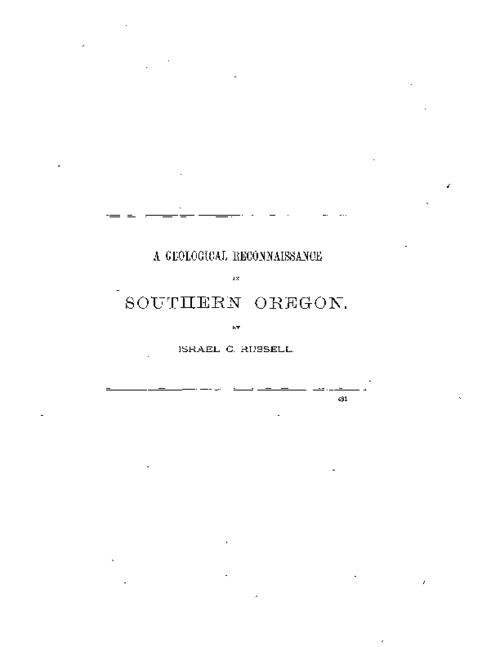 Extract from the 4th annual report of the director of the U.S. Geological Survey, 1882-83., Reproduction of the original from the Library of Congress., This archived document is maintained by the State Library of Oregon as part of the Oregon Documents Depository Program. It is for informational purposes and may not be suitable for legal purposes., Includes bibliographical references.