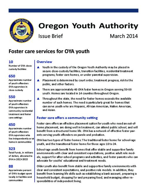 This archived document is maintained by the Oregon State Library as part of the Oregon Documents Depository Program.  It is for informational purposes and may not be suitable for legal purposes., Title from PDF caption (viewed on March 24, 2014), Mode of access: Internet from the Oregon Government Publications Collection., Text in English