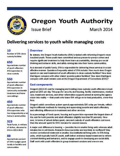 This archived document is maintained by the Oregon State Library as part of the Oregon Documents Depository Program.  It is for informational purposes and may not be suitable for legal purposes., Title from PDF caption (viewed on January 13, 2016)., Mode of access: Internet from the Oregon Government Publications Collection., Text in English.