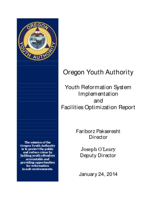 This archived document is maintained by the Oregon State Library as part of the Oregon Documents Depository Program.  It is for informational purposes and may not be suitable for legal purposes., Title from PDF cover (viewed on April 11, 2014), Report is a response to a 2013 budget note, Mode of access: Internet from the Oregon Government Publications Collection., Text in English
