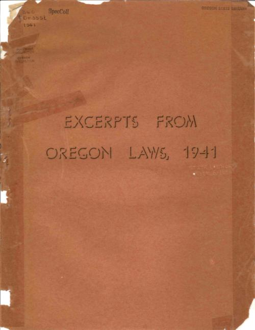 This archived document is maintained by the Oregon State Library as part of the Oregon Documents Depository Program.  It is for informational purposes and may not be suitable for legal purposes., Title from PDF cover (viewed on July 1, 2016)., Publication data from Oregon State Library shelf list., Mode of access: Internet from the Oregon Government Publications Collection., Text in English.