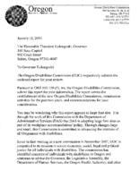 [Report covering establishment of the Oregon Disabilities Commission, commission...