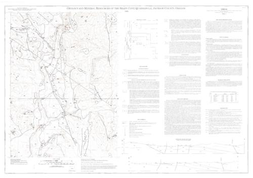 This archived document is maintained by the Oregon State Library as part of the Oregon Documents Depository Program.  It is for informational purposes and may not be suitable for legal purposes., Accompanying data sheet includes 2 tables, Includes text, 2 col. cross sections, 1 table, 1 chart, and quadrangle location map, Relief shown by contours and spot heights, Includes bibliographical references, Mode of access: Internet from the Oregon Government Publications Collection., Text in English.