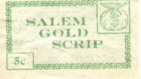 Salem gold scrip: 5 cents