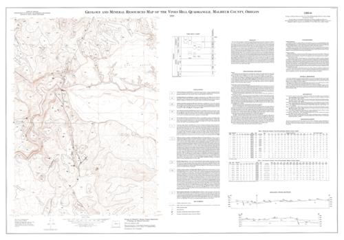 "This archived document is maintained by the Oregon State Library as part of the Oregon Documents Depository Program.  It is for informational purposes and may not be suitable for legal purposes., ""Contour interval 20 feet"", ""Field work conducted in 1989"", Includes text, 2 tables, 2 cross sections and quadrangle location map, Relief shown by contours and spot heights, Includes bibliographical references, Mode of access: Internet from the Oregon Government Publications Collection., Text in English."