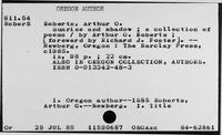 Roberts, Arthur O. - Roberts, Levi
