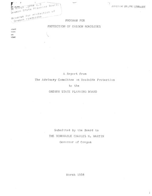 "This archived document is maintained by the Oregon State Library as part of the Oregon Documents Depository Program.  It is for informational purposes and may not be suitable for legal purposes., ""March 1938."", Mode of access: Internet from the Oregon Government Publications Collection."