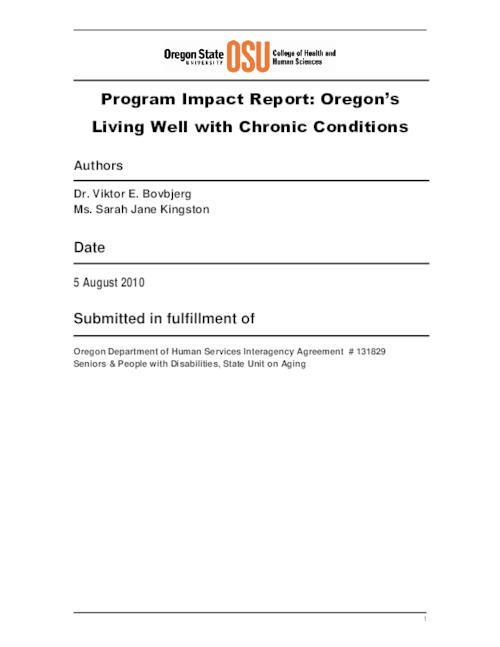 "Title from PDF cover (viewed on May 17, 2019)., ""Submitted in fulfillment of Oregon Department of Human Services Interagency Agreement # 131829, Seniors & People with Disabilities, State Unit on Aging."", This archived document is maintained by the State Library of Oregon as part of the Oregon Documents Depository Program. It is for informational purposes and may not be suitable for legal purposes., Includes bibliographical references., Mode of access: Internet from the Oregon Government Publications Collection., Text in English."