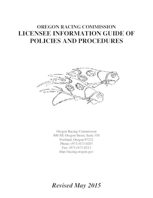 Title from PDF cover (viewed on November 21, 2016)., Mode of access: Internet from the Oregon Government Publications Collection., Text in English.