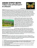 Asian gypsy moth: threat and opportunity in Oregon