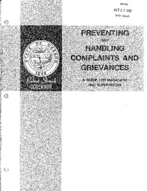 This archived document is maintained by the Oregon State Library as part of the Oregon Documents Depository Program.  It is for informational purposes and may not be suitable for legal purposes., Includes bibliographical references (page 25), Development and printing of this booklet was funded, in part, by a grant under the Intergovernmental Personnel Act, Mode of access: Internet from the Oregon Government Publications Collection.
