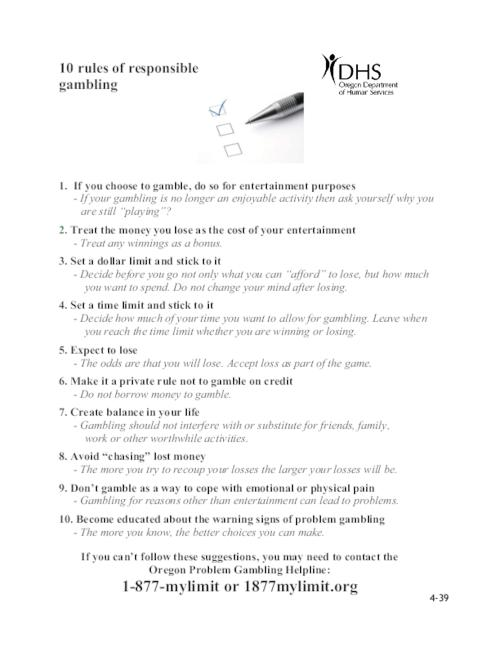 10 rules of responsible gambling oregon state library title from pdf caption viewed on january 4 2017 this archived solutioingenieria Image collections