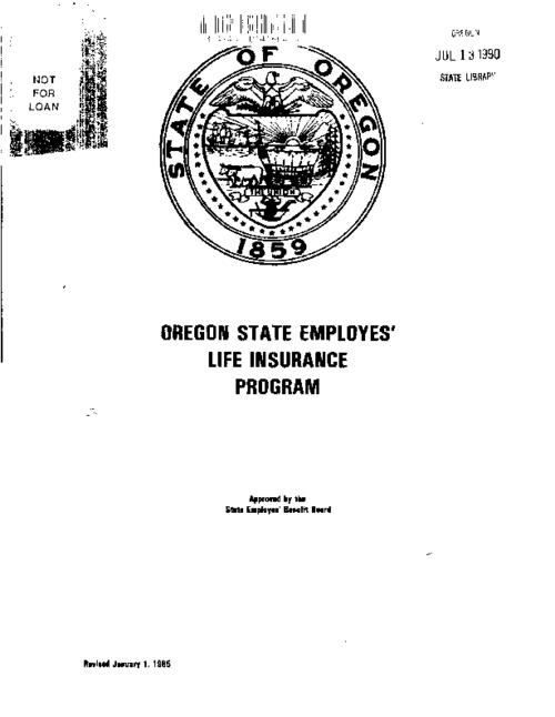 "This archived document is maintained by the Oregon State Library as part of the Oregon Documents Depository Program.  It is for informational purposes and may not be suitable for legal purposes., ""Revised January 1, 1985."", Title from cover, Mode of access: Internet from the Oregon Government Publications Collection."