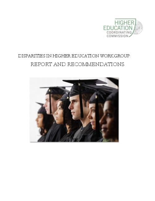 "Title from PDF cover (viewed on January 4, 2017)., ""As directed by Oregon House Bill 3308, in December of 2015, the Higher Education Coordinating Commission (HECC) convened a workgroup of various stakeholders to analyze and develop recommendations pertaining to addressing disparities in higher education through continuing education."", This archived document is maintained by the Oregon State Library as part of the Oregon Documents Depository Program. It is for informational purposes and may not be suitable for legal purposes., Includes bibliographical references., Mode of access: Internet from the Oregon Government Publications Collection., Text in English."