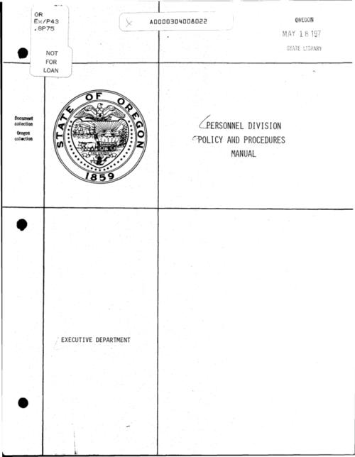 "This archived document is maintained by the Oregon State Library as part of the Oregon Documents Depository Program.  It is for informational purposes and may not be suitable for legal purposes., ""March 1, 1979""--General sec., leaf [2], Title from cover, Mode of access: Internet from the Oregon Government Publications Collection."