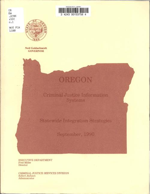 "This archived document is maintained by the Oregon State Library as part of the Oregon Documents Depository Program.  It is for informational purposes and may not be suitable for legal purposes., Title from cover., ""The 13 specific recommendations, and other information contained in this report, are the result of thousands of hours of work by the CJIS study team and the 422 state and local agency representatives who participated in the 54 separate workshop and interview sessions."", Mode of access: Internet from the Oregon Government Publications Collection., Text in English."