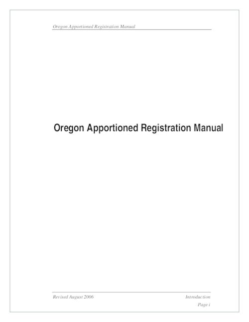 "This archived document is maintained by the Oregon State Library as part of the Oregon Documents Depository Program.  It is for informational purposes and may not be suitable for legal purposes., Title from cover, ""Revised August 2006."", OrDocs shipping list 2006-19, Mode of access: Internet from the Oregon Government Publications Collection."