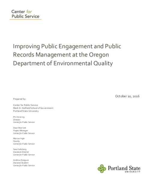 Title from PDF cover (viewed on January 19, 2017)., This archived document is maintained by the Oregon State Library as part of the Oregon Documents Depository Program. It is for informational purposes and may not be suitable for legal purposes., Mode of access: Internet from the Oregon Government Publications Collection., Text in English.