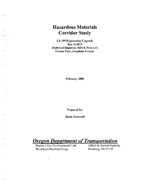 "This archived document is maintained by the Oregon State Library as part of the Oregon Documents Depository Program.  It is for informational purposes and may not be suitable for legal purposes., Title from PDF title page (viewed on Jan. 25, 2007), ""February 2005."", Includes bibliographical references (p. [118]), Mode of access: Internet from the Oregon Government Publications Collection."