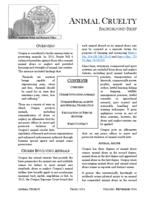 Animal cruelty, Animal cruelty background brief