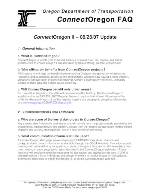 This archived document is maintained by the Oregon State Library as part of the Oregon Documents Depository Program.  It is for informational purposes and may not be suitable for legal purposes., Title from PDF caption (viewed on Oct. 7, 2008), Mode of access: Internet from the Oregon Government Publications Collection.