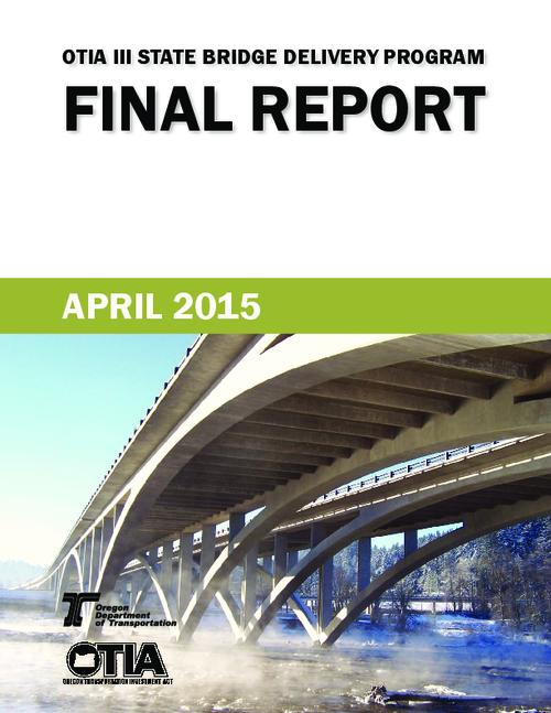 "This archived document is maintained by the Oregon State Library as part of the Oregon Documents Depository Program.  It is for informational purposes and may not be suitable for legal purposes., Title from PDF cover (viewed on October 8, 2015)., ""Data through Jan. 31, 2015, unless otherwise noted""--Running footer., Includes detailed description of each ""project bundle"" including contract number, milestone chronology, key personnel and map., Mode of access: Internet from the Oregon Government Publications Collection., Text in English."