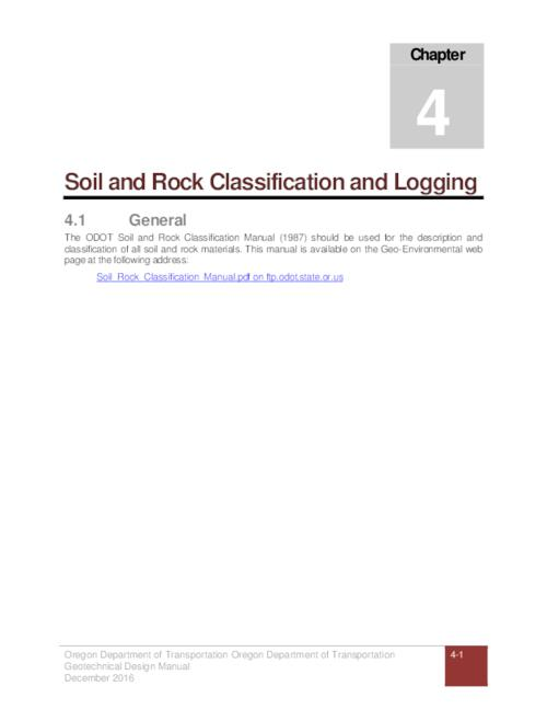 geotechnical design manual chapter 4 soil and rock classification rh digital osl state or us Chapter 4 Chapter 6