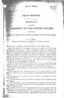 Oregon Territory: Message from the President of the United States, inviting...