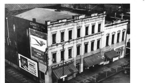Holman Building, 275 S. Commercial. The Holman Building was used as the Capitol from about 1859 until the completion of the 1876 Capitol. The Holman building was condemned during World War II, and demolished in 1951., Courtesy of Oregon State Library