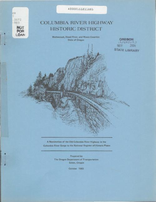 "This archived document is maintained by the Oregon State Library as part of the Oregon Documents Depository Program.  It is for informational purposes and may not be suitable for legal purposes., Title from cover, ""Multnomah, Hood River, and Wasco Counties, State of Oregon."", ""October 1983."", Mode of access: Internet from the Oregon Government Publications Collection."